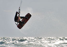Beach Activities around Playa Grande include Kite Surfing in Costa Rica