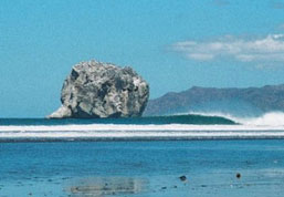 Take a short boat ride to Witches Rock a photogenic and fun beachbreak near Playa Grande, Costa Rica